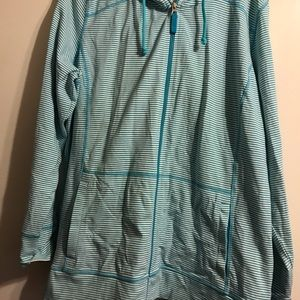 Turquoise zip up